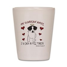 JackRussellBlk Shot Glass