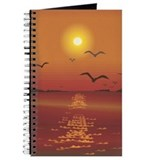 Seagulls Sunset Journal