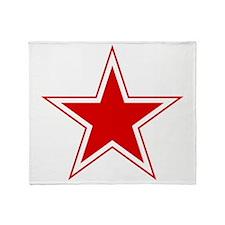 URSS_Russian_aviation_red_star_svg Throw Blanket