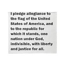 pledge01 Throw Blanket