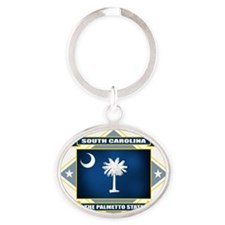 South Carolina diamond Oval Keychain
