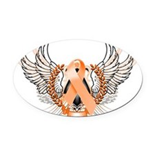 Awareness Tribal Orange Oval Car Magnet