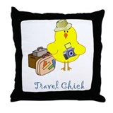 Travel Chicks Throw Pillow