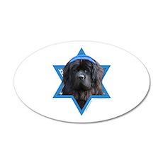 Hanukkah Star of David - Newfie 20x12 Oval Wall De