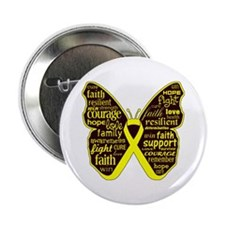 """Butterfly Sarcoma Ribbon 2.25"""" Button"""