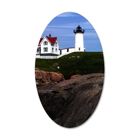 Nubble Print 35x21 Oval Wall Decal