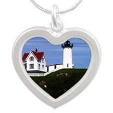 NUBBLE PRINTED Silver Heart Necklace