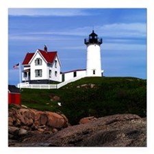 "NUBBLE PRINTED Square Car Magnet 3"" x 3"""