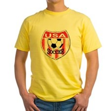 USA Soccer Shield stripes T