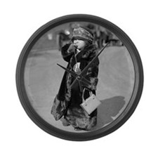 Midget Flapper Girl Large Wall Clock