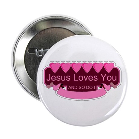 "Jesus Loves You 2.25"" Button (10 pack)"