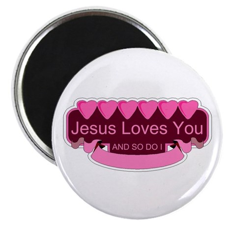 "Jesus Loves You 2.25"" Magnet (100 pack)"