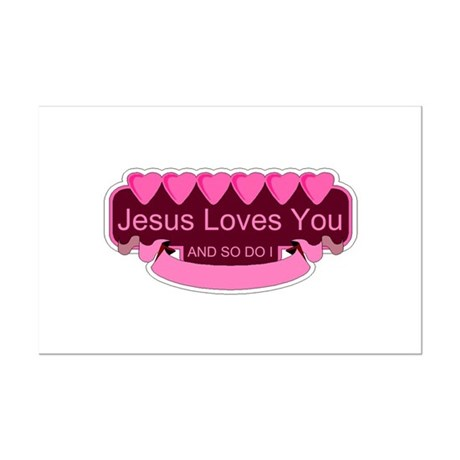 Jesus Loves You Mini Poster Print