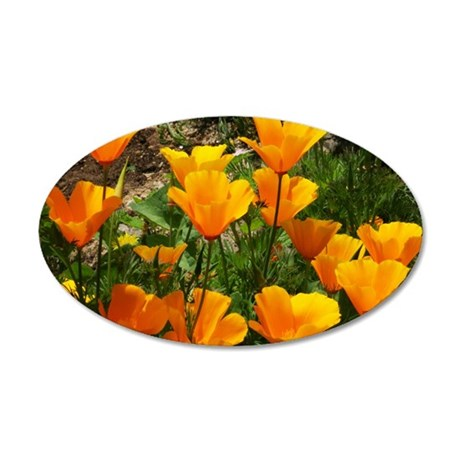 Flock of Buttercups A 35x21 Oval Wall Decal
