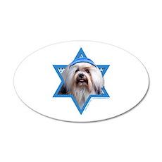 Hanukkah Star of David - Lowchen 20x12 Oval Wall D