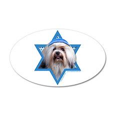 Hanukkah Star of David - Lowchen 35x21 Oval Wall D