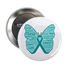 "Butterfly Peritoneal Cancer 2.25"" Button (100 pack"
