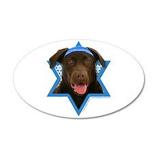 Hanukkah Star of David - Choc Lab 35x21 Oval Wall