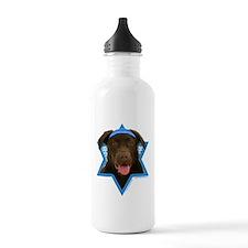 Hanukkah Star of David - Choc Lab Water Bottle
