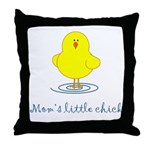 Mom's Little Chick Throw Pillow