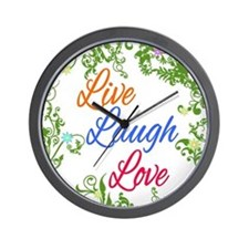 Live Laugh Love 2 Wall Clock