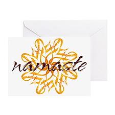 namaste_warm_white Greeting Card