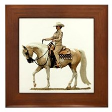 Half Arabian Western Pleasure Framed Tile