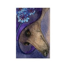journal whippet of mystery Rectangle Magnet