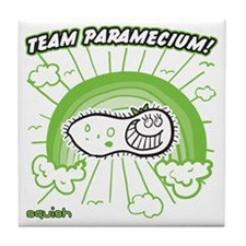 team-paramecium-greenest Tile Coaster