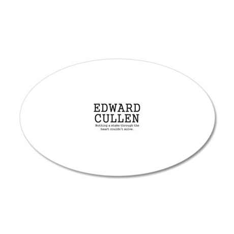 Twilight stake through heart 20x12 Oval Wall Decal