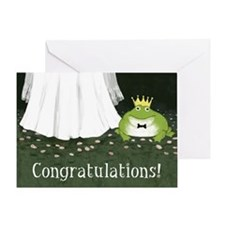 Frog Prince And Princess Congratulations Card