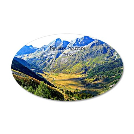 Majestic Pyrenees Mountains 35x21 Oval Wall Decal