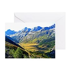 Majestic Pyrenees Mountains Greeting Card