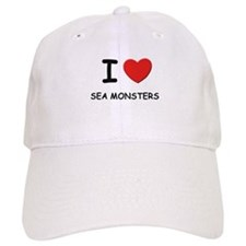 I love sea monsters Baseball Cap