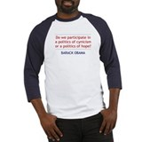 "Obama Quote: ""Politics of Hope"" Baseball Jersey"