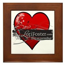 heart - What are you reading? Framed Tile