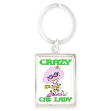 CRAZYCATLADY Portrait Keychain