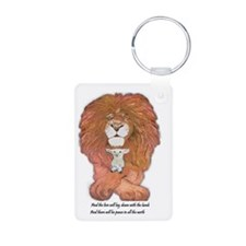 3-lion and lamb very very  Keychains