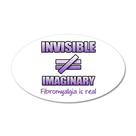 Fibromyalgia Is Not Imaginary 20x12 Oval Wall Deca