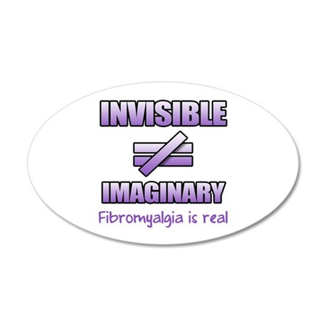 Fibromyalgia Is Not Imaginary 35x21 Oval Wall Deca