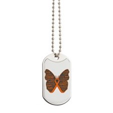 Butterfly Leukemia Ribbon Dog Tags