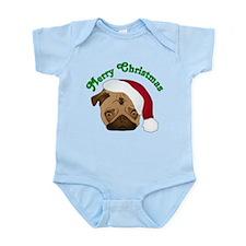 Merry Christmas Santa Pug Body Suit
