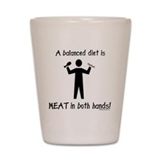 meatinbothhands Shot Glass