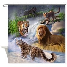 Big Cats Shower Curtain