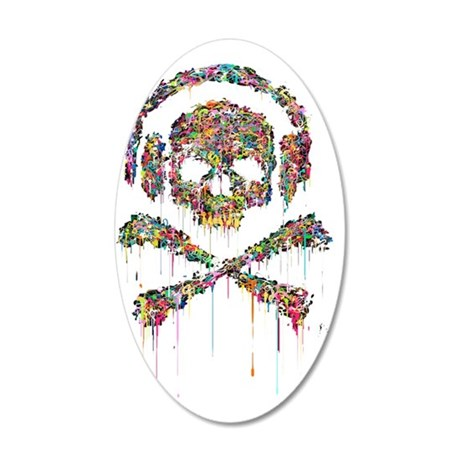 DRIPPING-SKULL-FINAL-1a-2 35x21 Oval Wall Decal