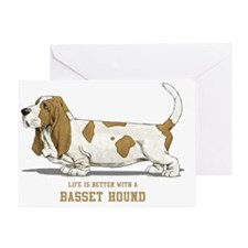 Life-is-better-with-a-Basset-Hound-2 Greeting Card