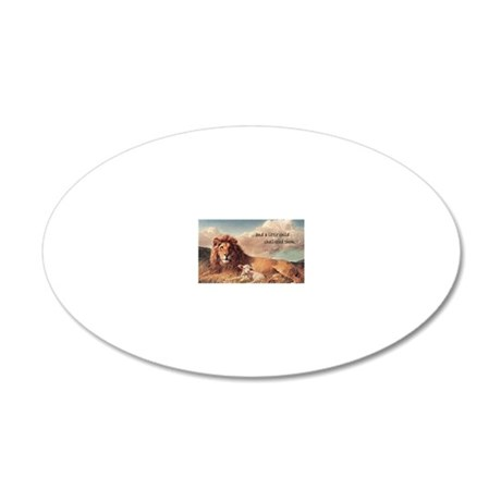 lionandlambmagnet copy 20x12 Oval Wall Decal