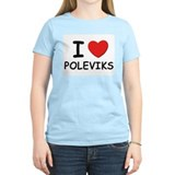 I love poleviks Women's Pink T-Shirt