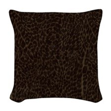 Dark Animal Print Woven Throw Pillow