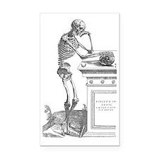 164-skeleton-with-skull-q90-1 Rectangle Car Magnet
